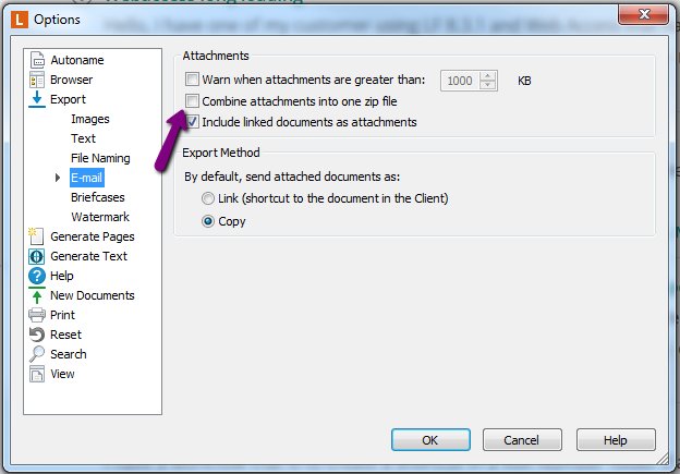 New Feature Request – ZIP documents before sending by email