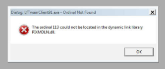 The ordinal 113 could not be located in the dynamic link library