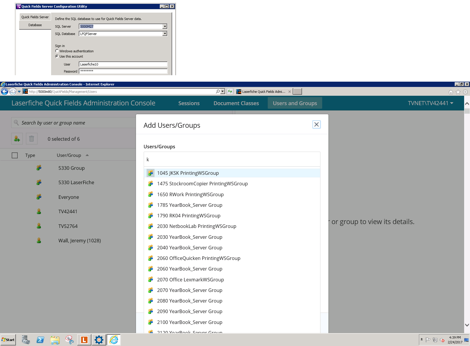 How do we confirm/alter the LDAP/AD connection with QF Admin