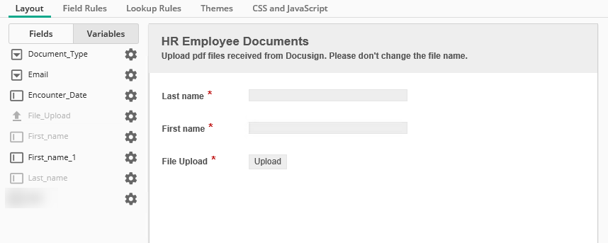 Forms - how do I configure to rename the file uploaded by