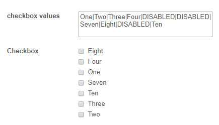 Is it possible to sort checkbox options alphabetically