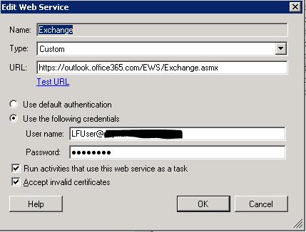 Exchange Web Service in Workflow - Laserfiche Answers