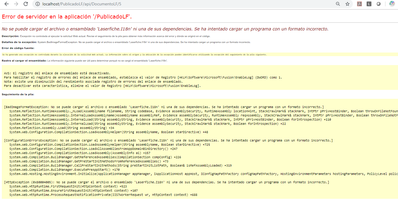 LF SDK Web Application Fails in 64-bit - Laserfiche Answers