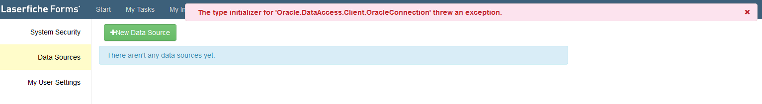 Oracle Initializer Threw an Exception - Laserfiche Answers