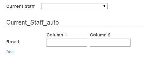 Populating a table with a sql lookup values via dropdown