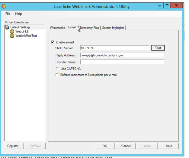 Office 365 and Weblink Email - Laserfiche Answers