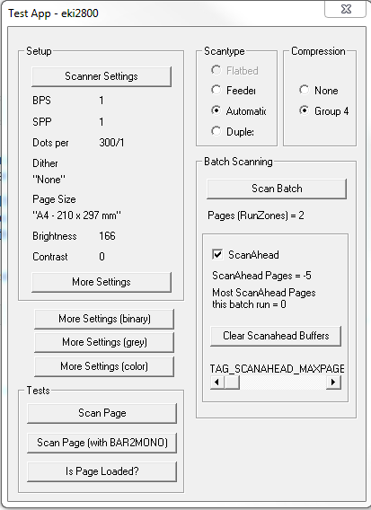 LF Scanning with TWAIN driver not transferring images from