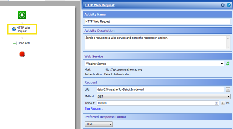using web services to get info from internet - web API