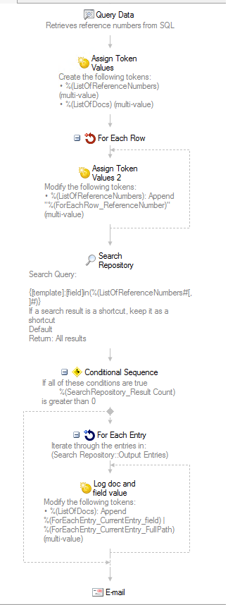 Workflow - Matching field values from Repository to SQL database