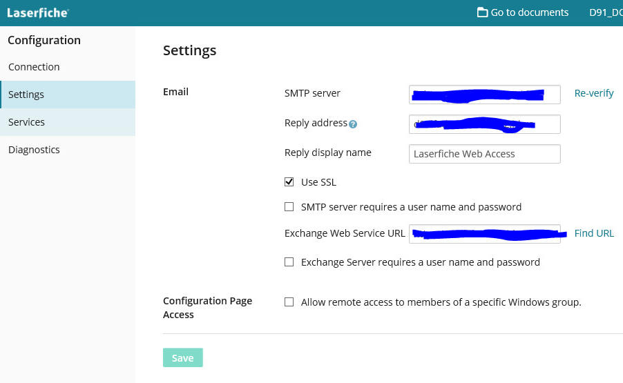 Web Access 10 Email Settings - Laserfiche Answers