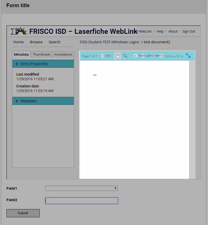 WebLink iframe Options - Laserfiche Answers
